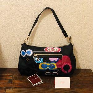 🎉 COACH Poppy Graffiti Shoulder Bag